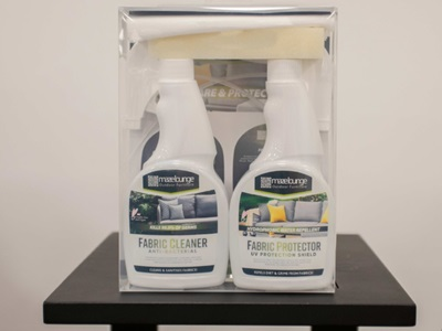 Product photograph showing Cleaning Kit And Protector For Outdoor Fabric