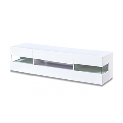 Product photograph showing Concorde Led Tv Unit White High Gloss