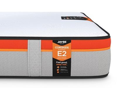 JAY_BE CoreKids E2 Memory e-Pocket 750 Eco Friendly Mattress Pocket Sprung