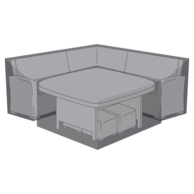 Product photograph showing Corner Dining Set Cover - Cambridge Deluxe