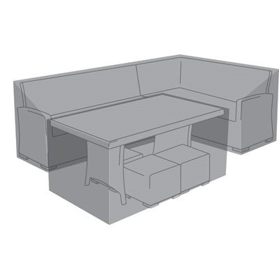 Product photograph showing Corner Dining Set Cover - Cambridge Right Hand