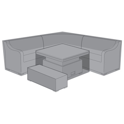 Product photograph showing Corner Dining Set Cover - Harper Deluxe Rising Table Fire Pit