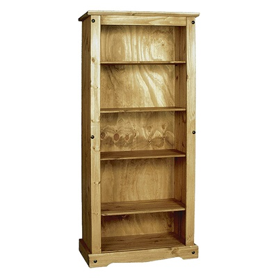 Product photograph showing Corona Bookcase Large With 4 Shelves