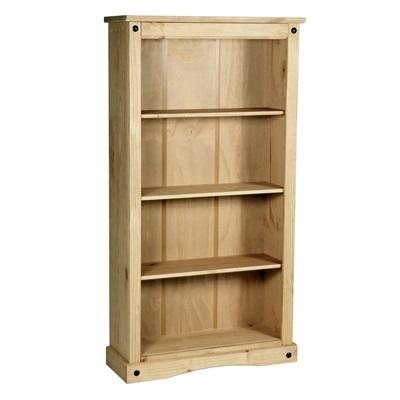 Product photograph showing Corona Bookcase Medium With 3 Shelves