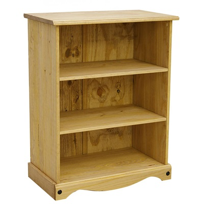 Product photograph showing Corona Bookcase Small With 2 Shelves