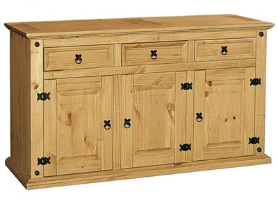 Product photograph showing Corona Sideboard 3 Doors And 3 Draws