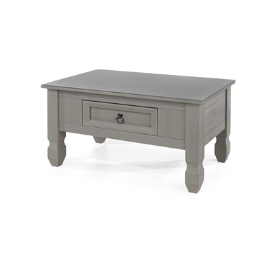 Product photograph showing Corona Compact Coffee Table With Glass Top