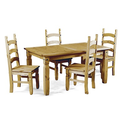Product photograph showing Corona Dining Set With 4 Chairs