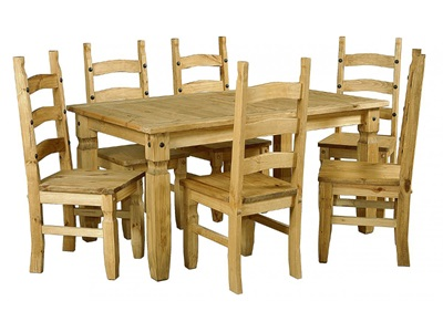 Product photograph showing Corona Dining Set With 6 Chairs