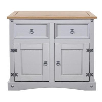 Product photograph showing Corona Grey Sideboard 2 Doors 2 Draws