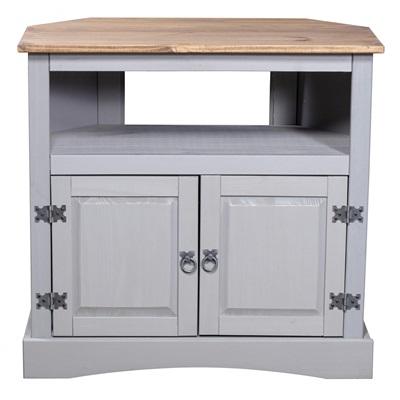 Product photograph showing Corona Grey Tv Cabinet Corner