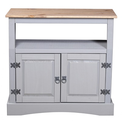 Product photograph showing Corona Grey Tv Cabinet Straight