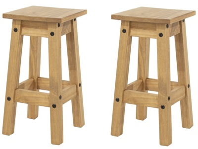 Product photograph showing Corona Low Kitchen Stools Pair