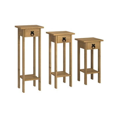Product photograph showing Corona Plant Stands Set Of 3