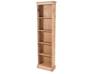 Product photograph showing Corona Tall Narrow Bookcase