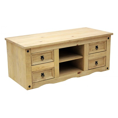 Product photograph showing Corona Tv Flatscreen Wide With 4 Drawers