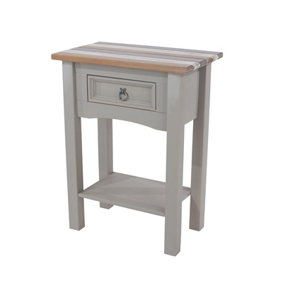 Product photograph showing Corona Vintage 1 Drawer Hall Table With Shelf