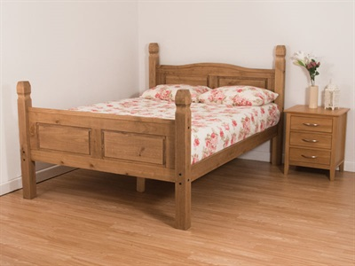 Snuggle Beds Corona - Antique Pine 4 Small Double Wooden Bed