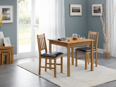 Product photograph showing Coxmoor Compact Square Dining Set With 2 Chairs