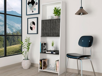 Product photograph showing Dallas Bookcase With Door