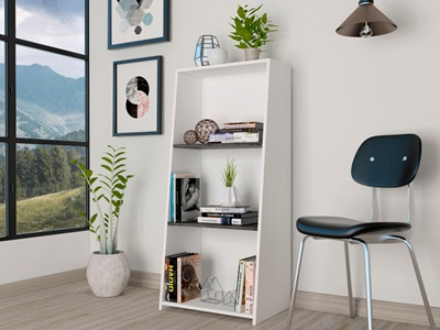 Product photograph showing Dallas Low Bookcase
