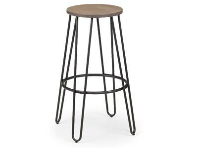 Product photograph showing Dalston Round Bar Stool