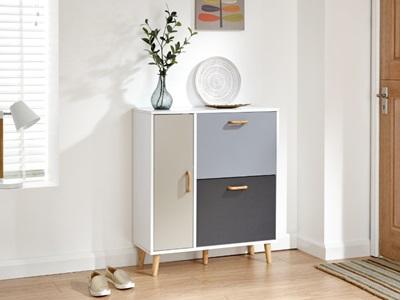 Product photograph showing Delta Shoe Cabinet