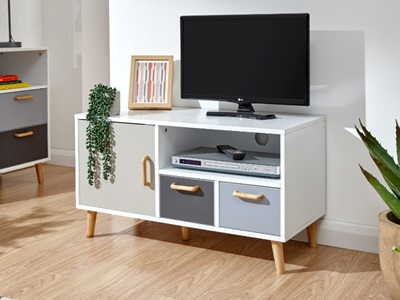 Product photograph showing Delta Small Tv Unit