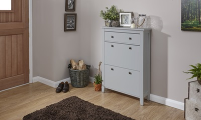Product photograph showing Deluxe Two Tier Shoe Cabinet