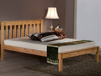 Birlea Denver Low Foot End (Antique Pine) 3 Single Pine Low Foot End Wooden Bed