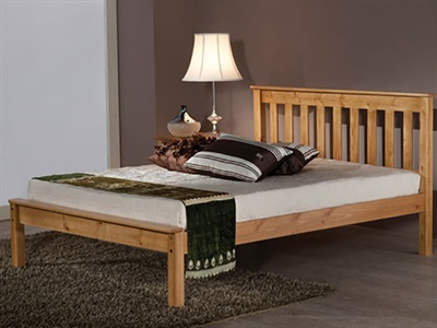 Balmoral Devon Antique Pine 3 Single Antique Bed Frame Only Wooden Bed