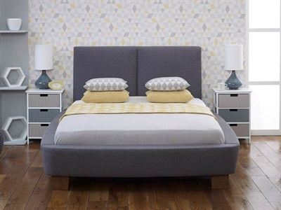 Limelight Dione 6 Super King Slate Fabric Bed