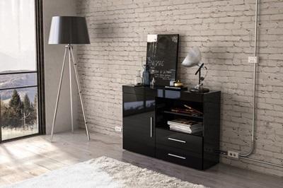 Product photograph showing Edgeware 1 Door 2 Drawer Sideboard