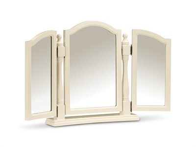 Julian Bowen Josephine Triple Mirror Stone White Mirror