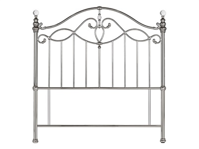 Bentley Designs Elena Shiny Nickel 4 6 Double Nickel Headboard Only Metal Headboard