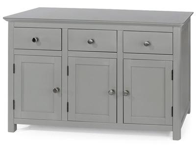 Product photograph showing Elgin 3 Door 3 Drawer Sideboard