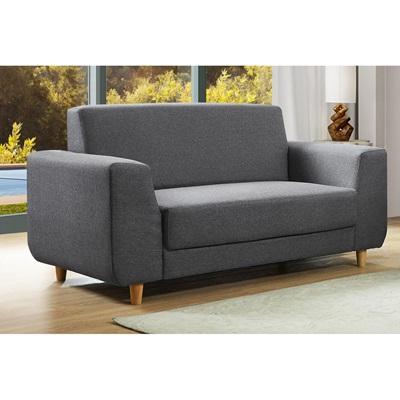 Product photograph showing Fida Fabric 2 Seater Sofa Dark Grey