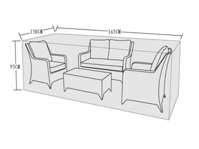 Product photograph showing Furniture Cover - 2 Seat Sofa Set