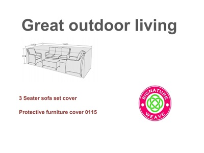 Product photograph showing Furniture Cover - 3 Seat Sofa Set