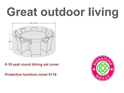 Product photograph showing Furniture Cover - For Large Round Dining Sets 8-10 Seater