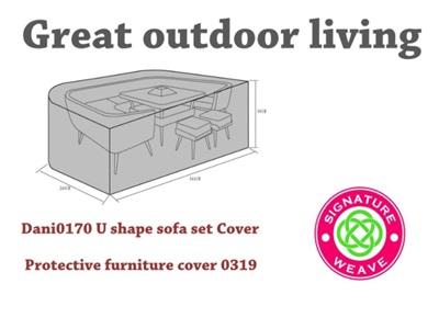 Product photograph showing Furniture Cover - Danielle U-shaped Sofa Set