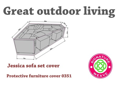 Product photograph showing Furniture Cover - Large Jessica Corner Sofa Set