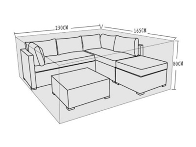 Product photograph showing Furniture Cover - Savannah Corner Sofa Set