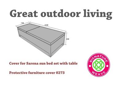 Product photograph showing Furniture Cover - Sarena Sun Loungers