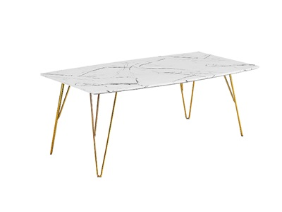 Product photograph showing Fusion Coffee Table White Marble