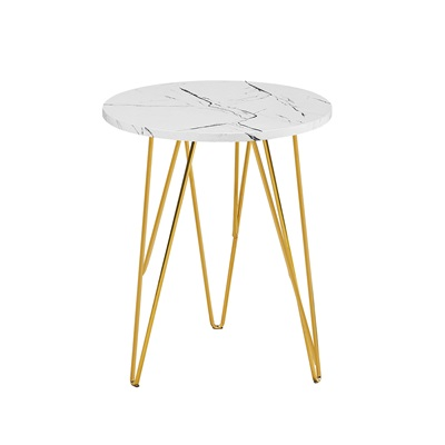 Product photograph showing Fusion Lamp Table White Marble