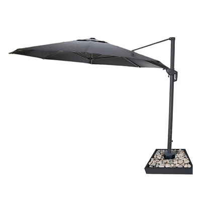 Product photograph showing Galaxy Led Cantilever Parasol - 3 5m Round