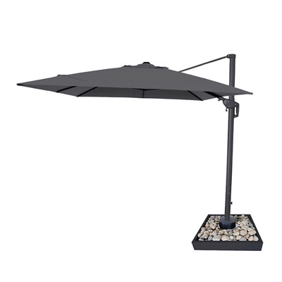 Product photograph showing Galaxy Led Cantilever Parasol - 3m Square