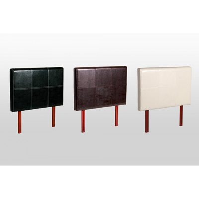 Product photograph showing Genoa Pu Faux Leather Headboard