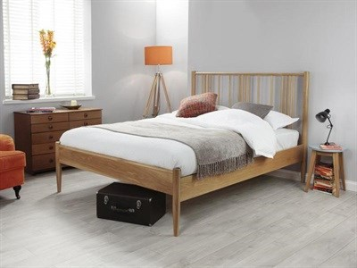 Silentnight Hamilton Oak 4 6 Double Oak Wooden Bed
